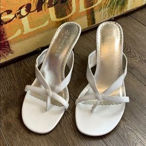 Rampage Shoes - SALE! Rampage Madyson White Sandals with heels
